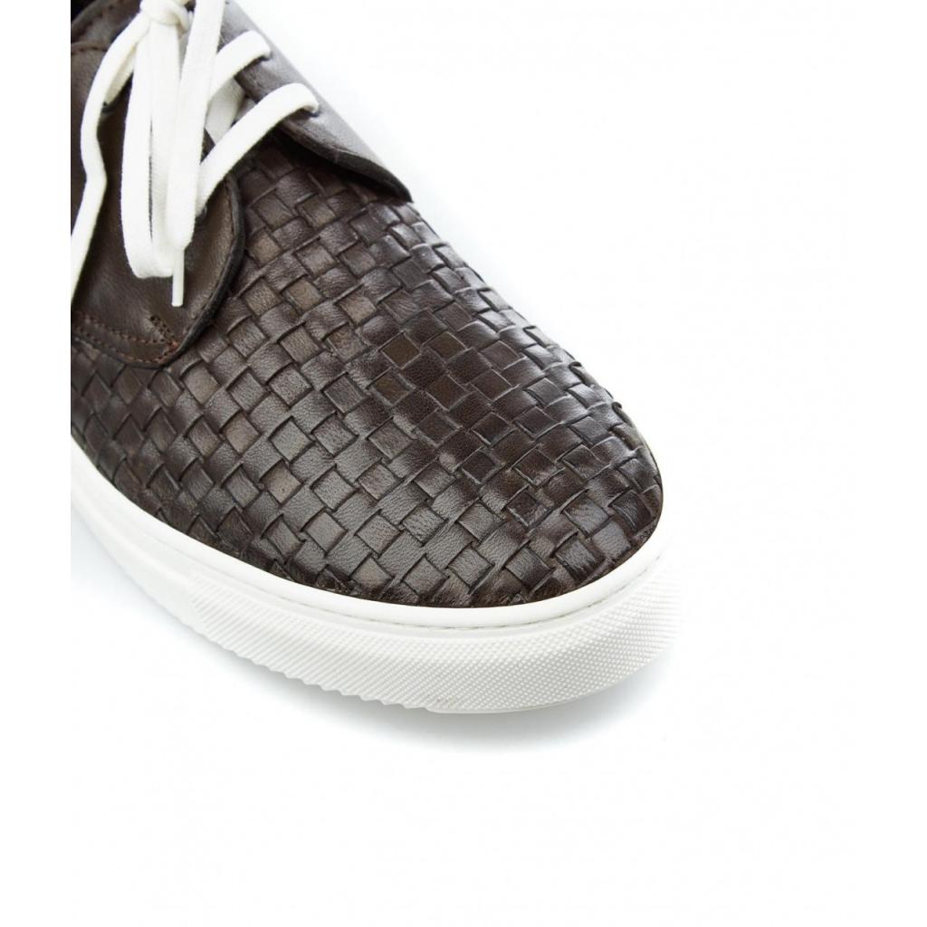 Sneaker in pelle marrone