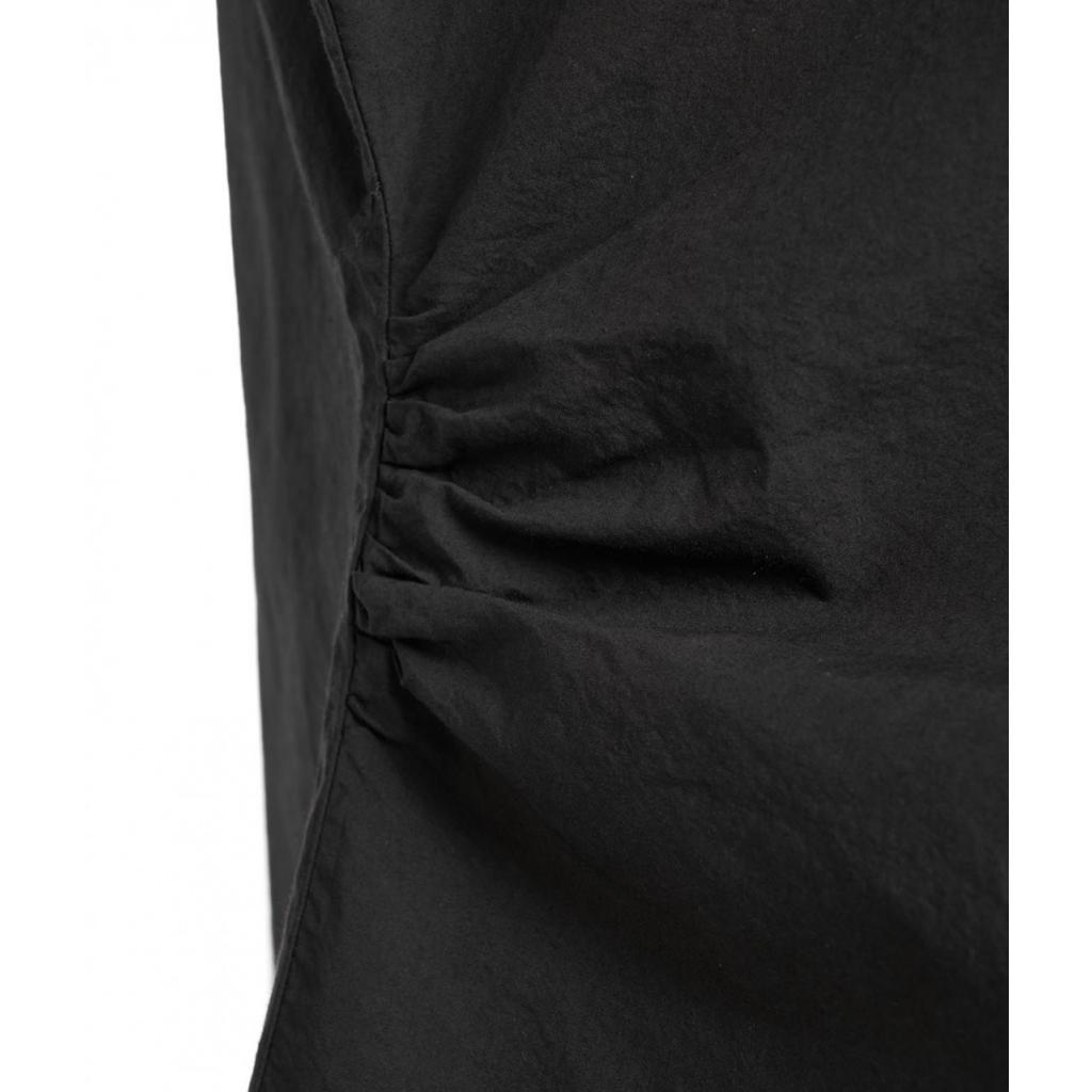Camicetta con pieghe nero