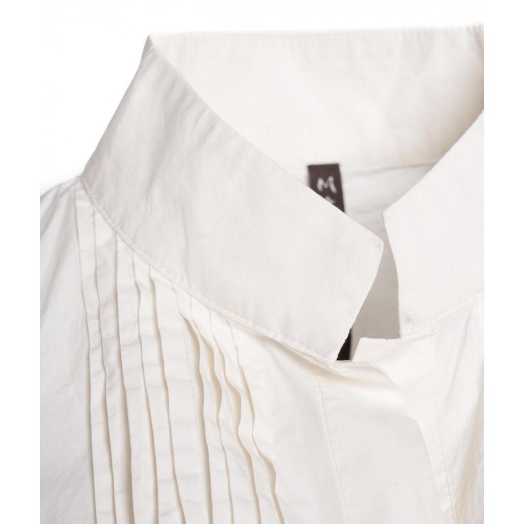 Camicetta con pieghe bianco
