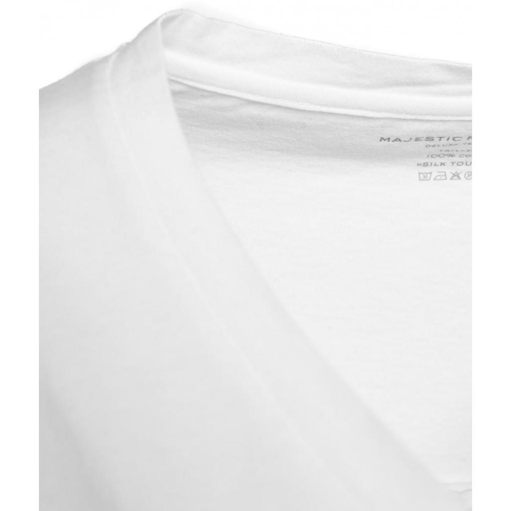 T-shirt con scollo a V bianco