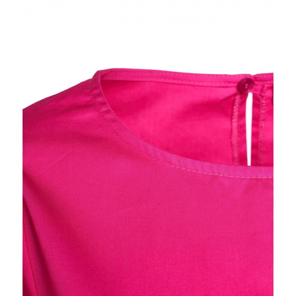 Abito con maniche lunghe a sbuffo pink