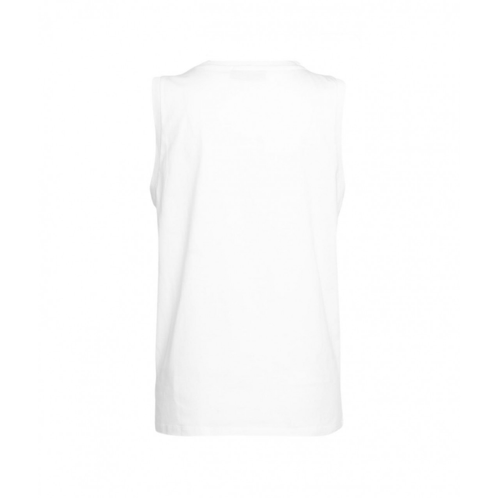 Sleeveless shirt conlogo bianco