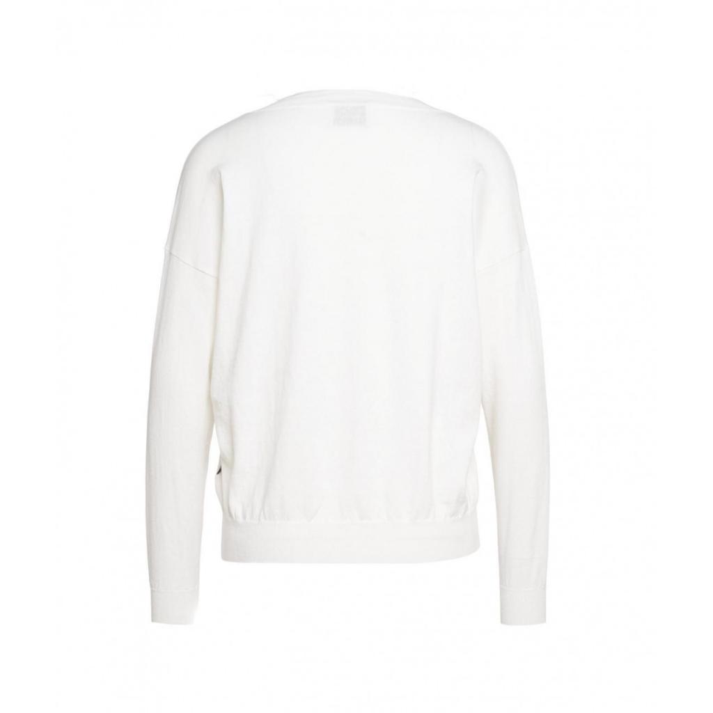 Maglione leggero con scollo a V bianco
