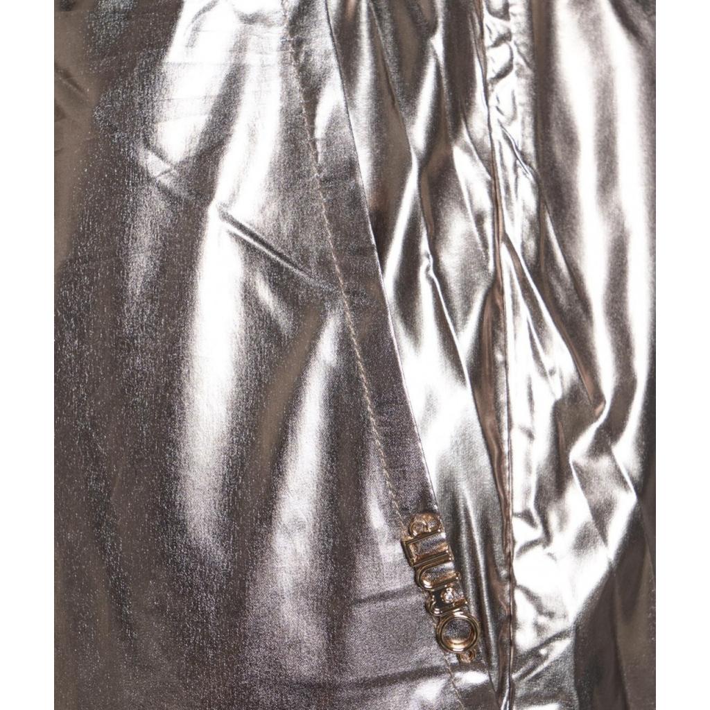 Pantaloni in tessuto spalmato Navetta oro