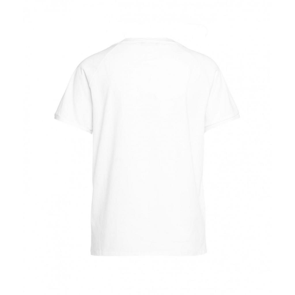 T-shirt con applicazione di glitter bianco