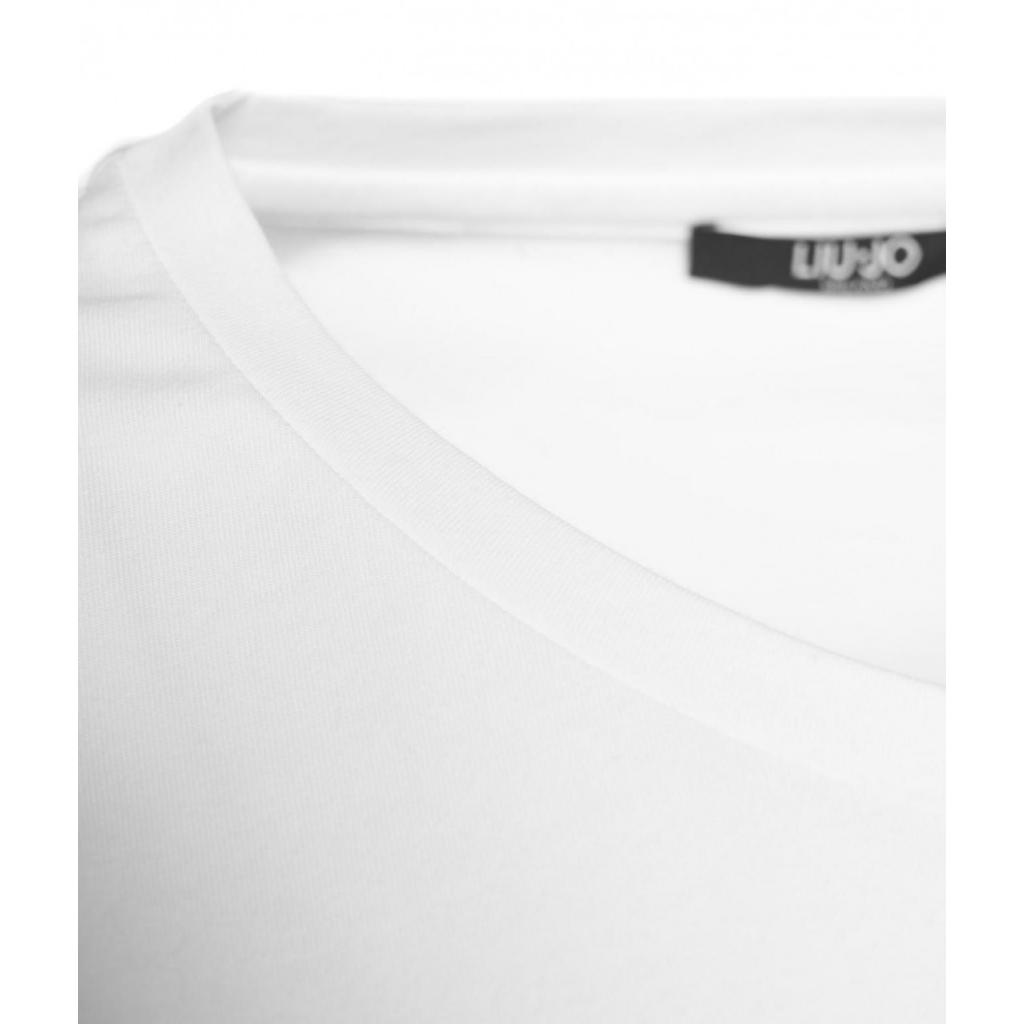 T-shirt con scritta del logo bianco