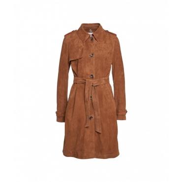 Cappotto di pelle Oleimpical marrone