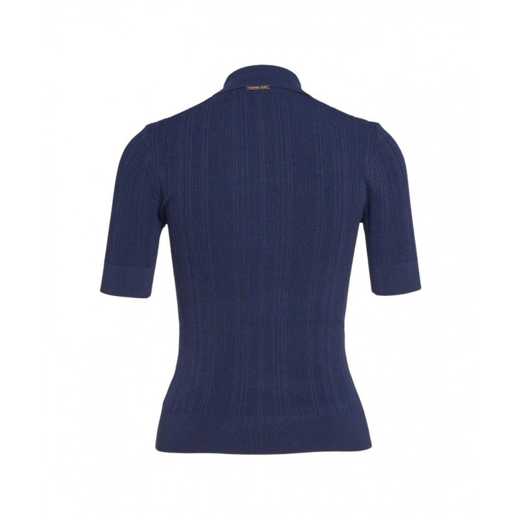 Shirt a coste blu scuro
