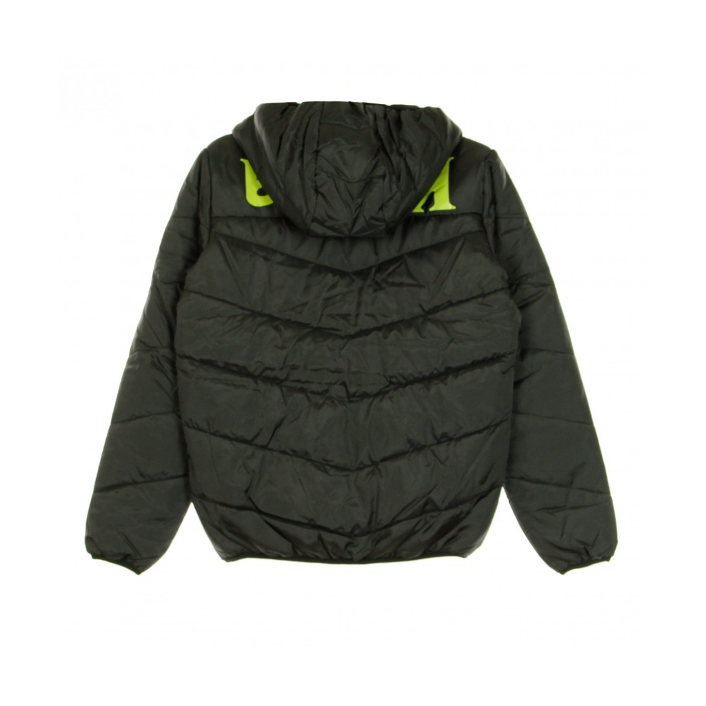 PIUMINO DANIS BLACK/GREEN LIME