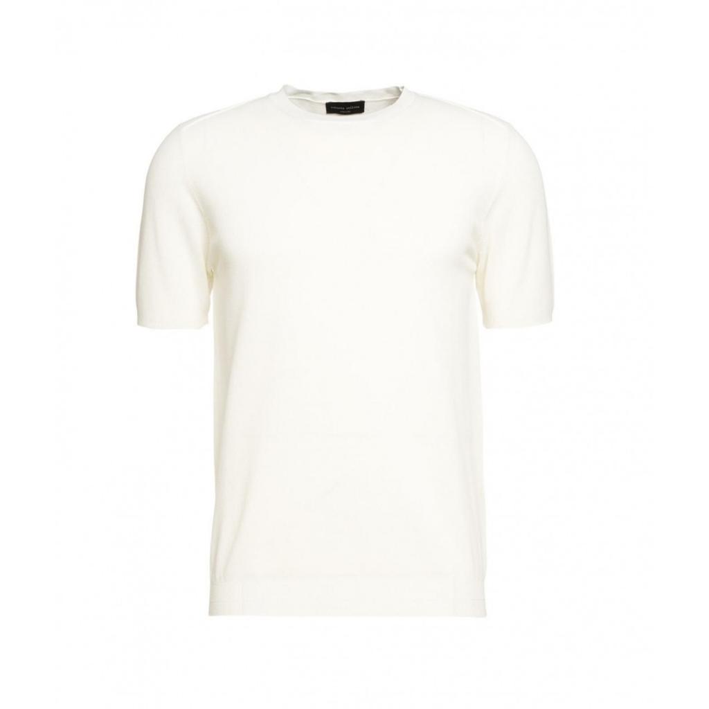 T-shirt con struttura bianco