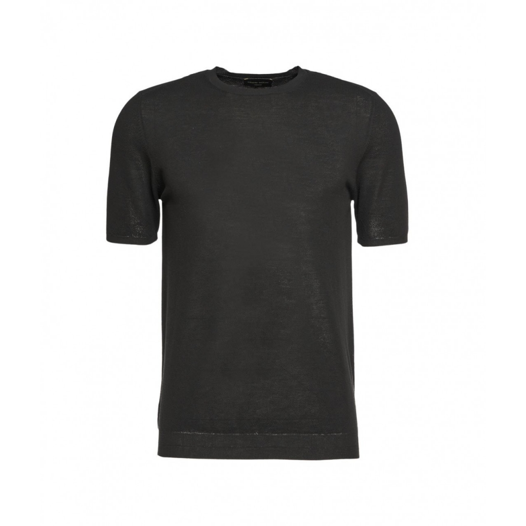 T-shirt con struttura nero
