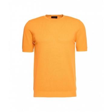 T-shirt con struttura arancione