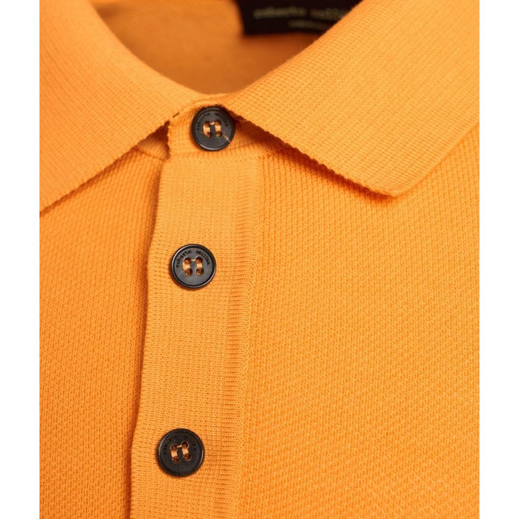Polo con struttura arancione
