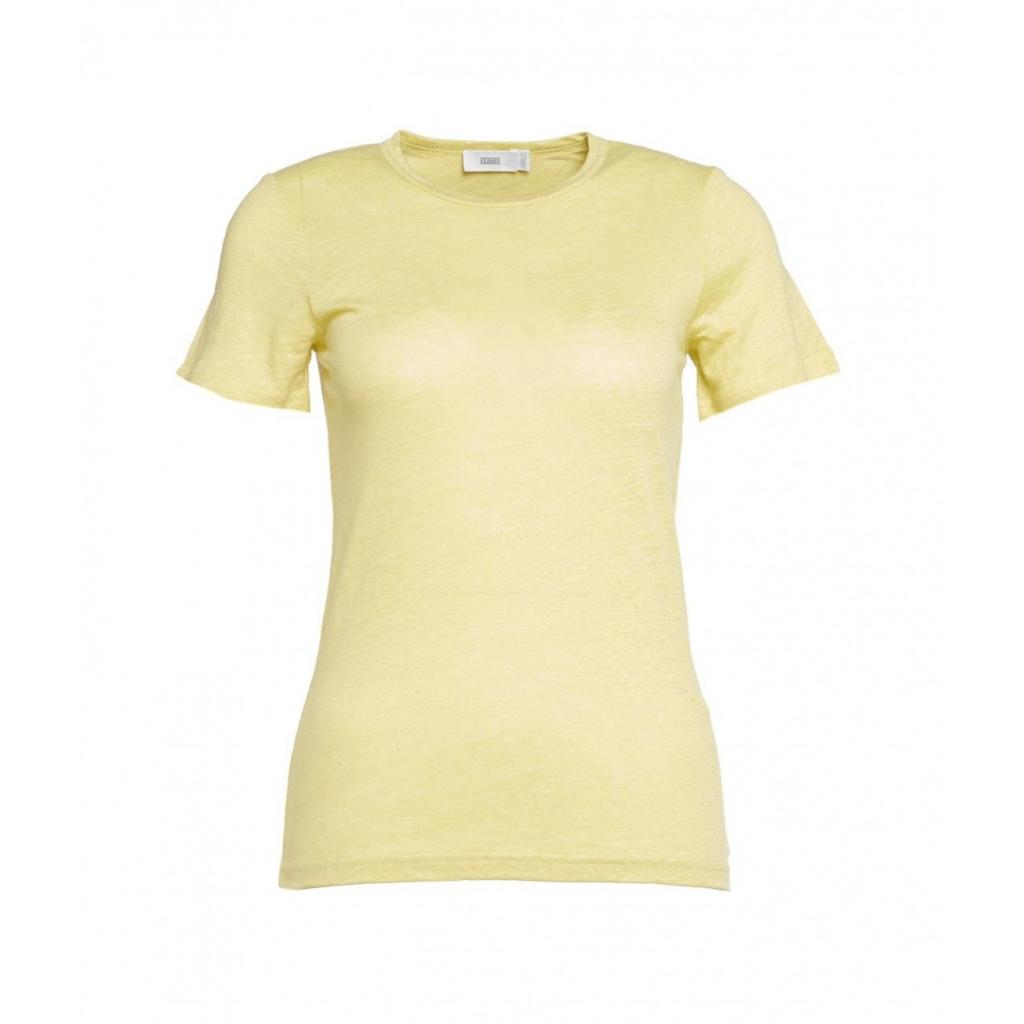 T-shirt in lino verde chiaro