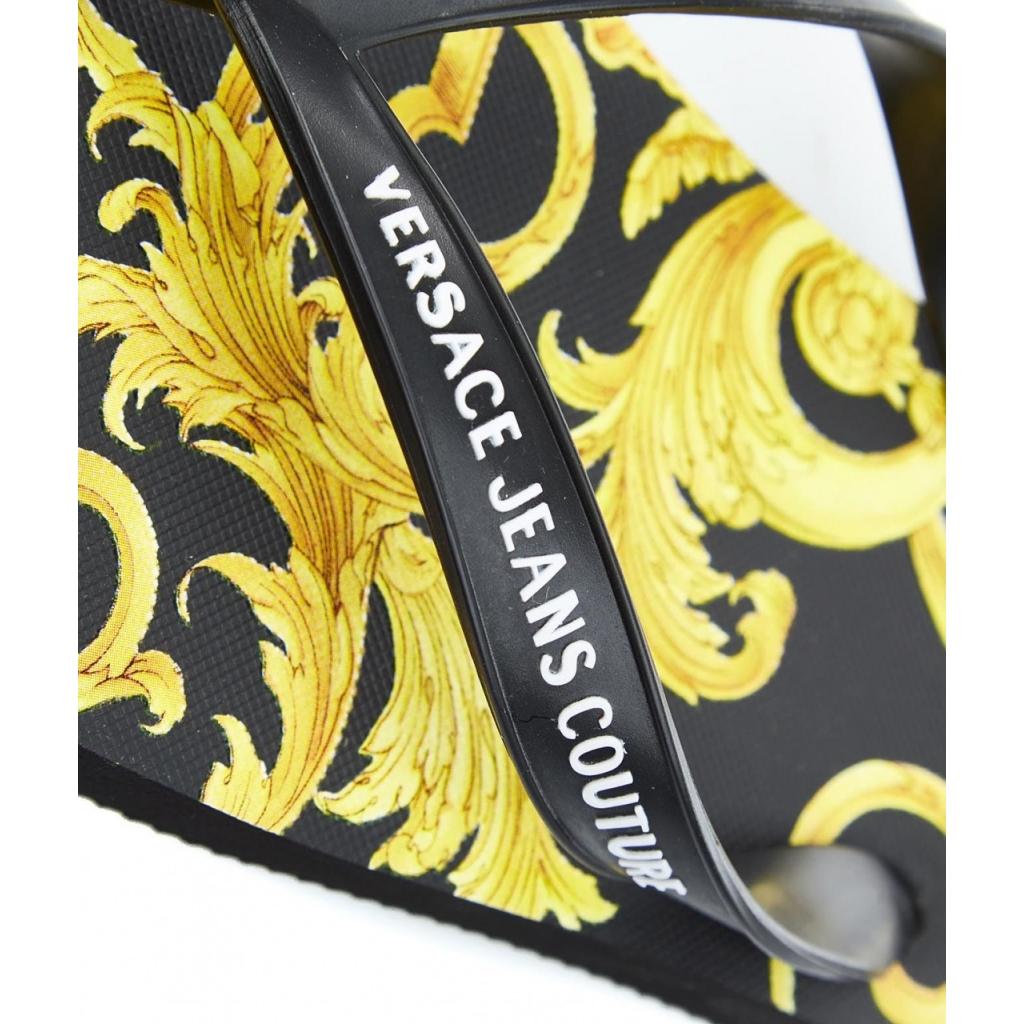 Flip Flop con stampa baroque nero