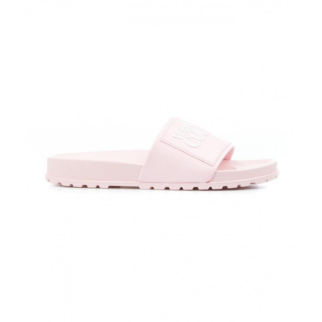 Slides con logo rosa chiaro