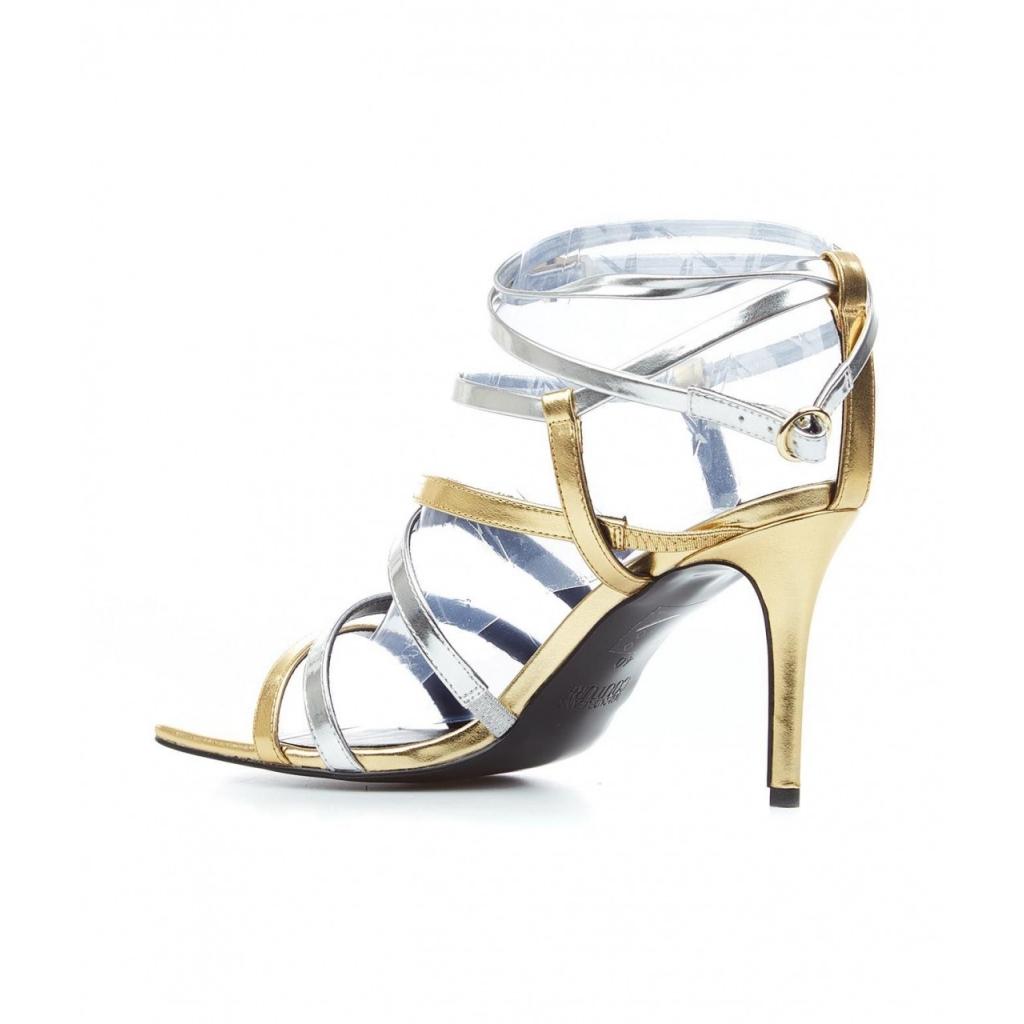 Sandali con tacco Emily oro