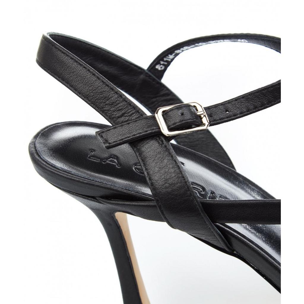 Sandali con tacco nero
