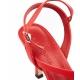 Sandali con tacco rosso
