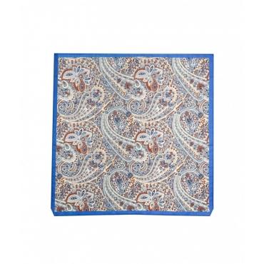 Sciarpa con stampa paisley blu