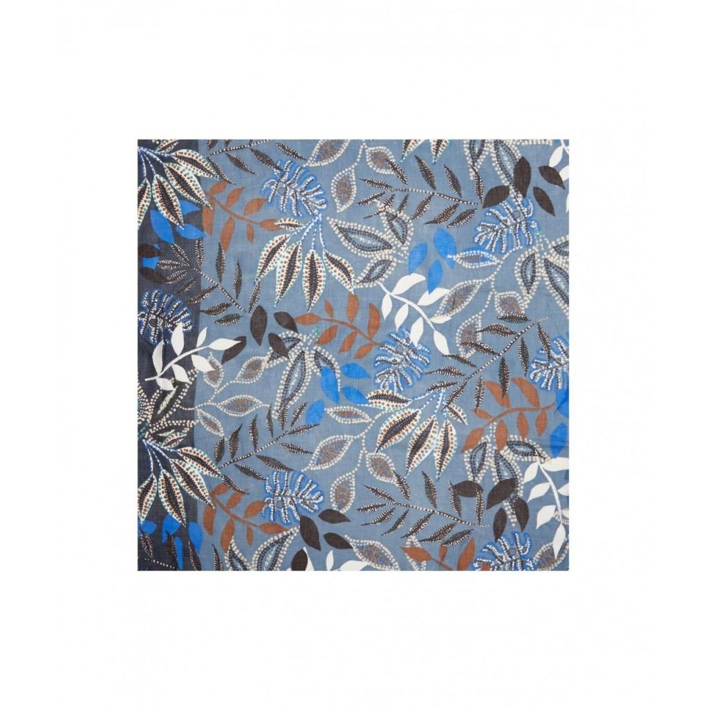 Sciarpa She Dandy con stampa floreale blu