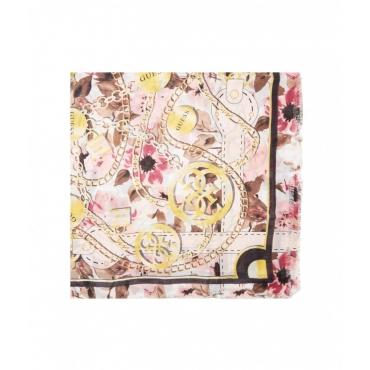Sciarpa con stampa catene rosa