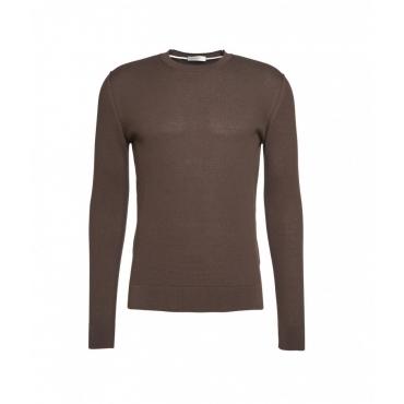 Maglione leggero con struttura marrone