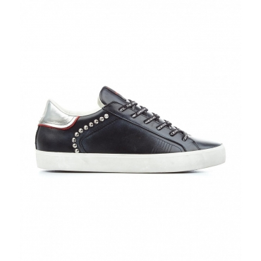 Sneakers Low Top Distressed nero