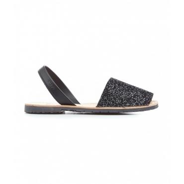 Glitter slides nero