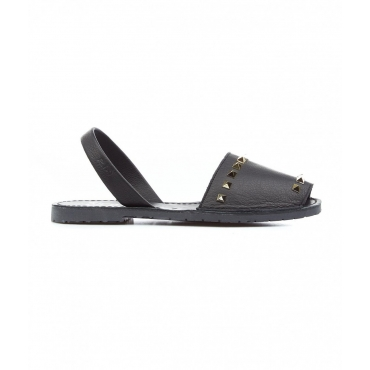 Slides con borchie nero