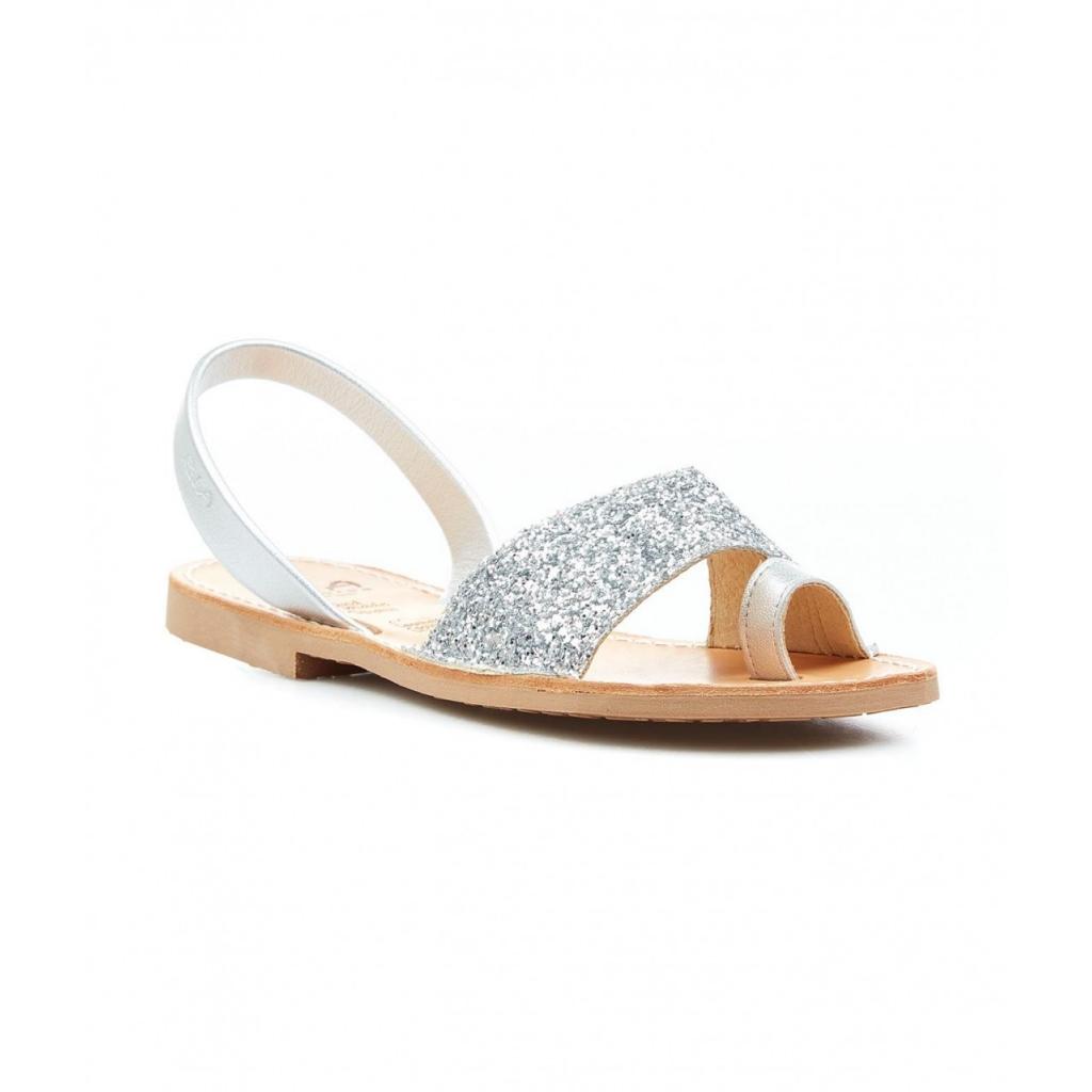 Slides glitter argento