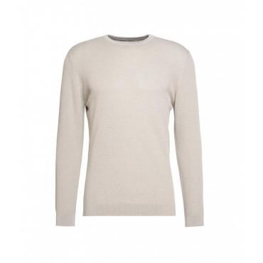 Maglione leggero con struttura grigio