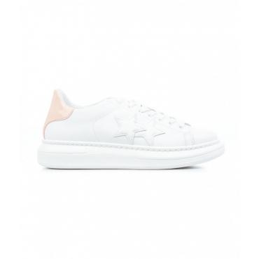 Sneaker con stelle bianco