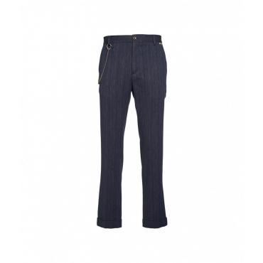 Pantalone Bruno blu scuro