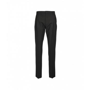 Pantaloni con piega cucita nero