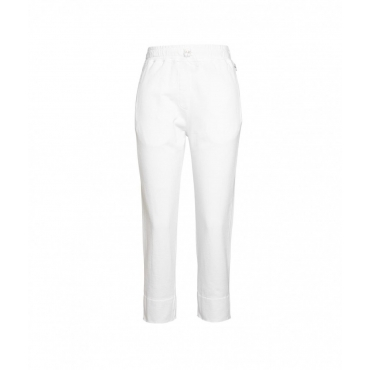 Cropped Joggers bianco