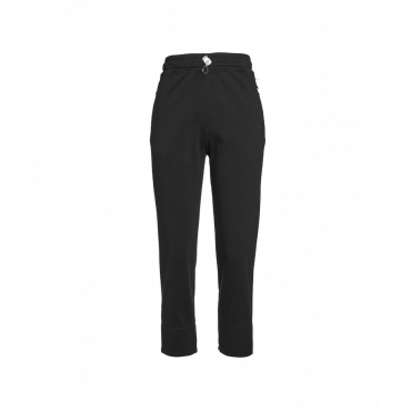 Cropped Joggers nero