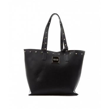 Shopper con borchie nero