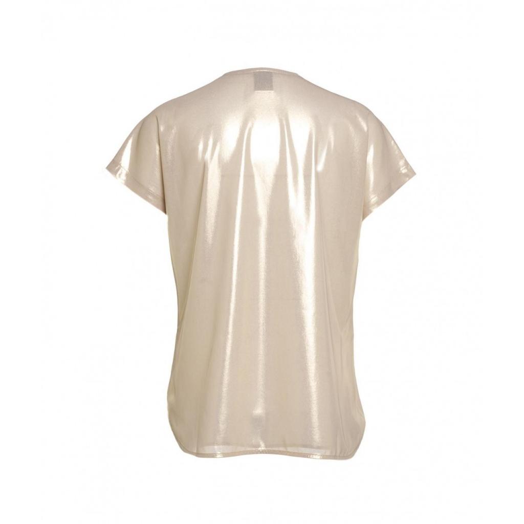 T-Shirt con finitura glitterata oro