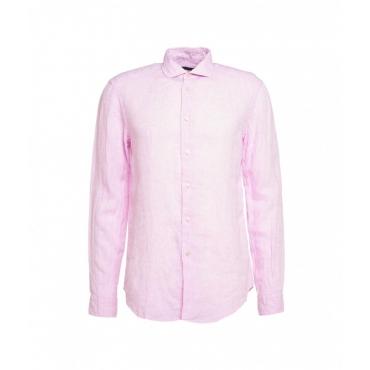 Camicia in lino pink