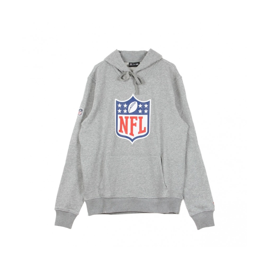 FELPA CAPPUCCIO TEAM LOGO NFL PO HOOD HEATHER GREY