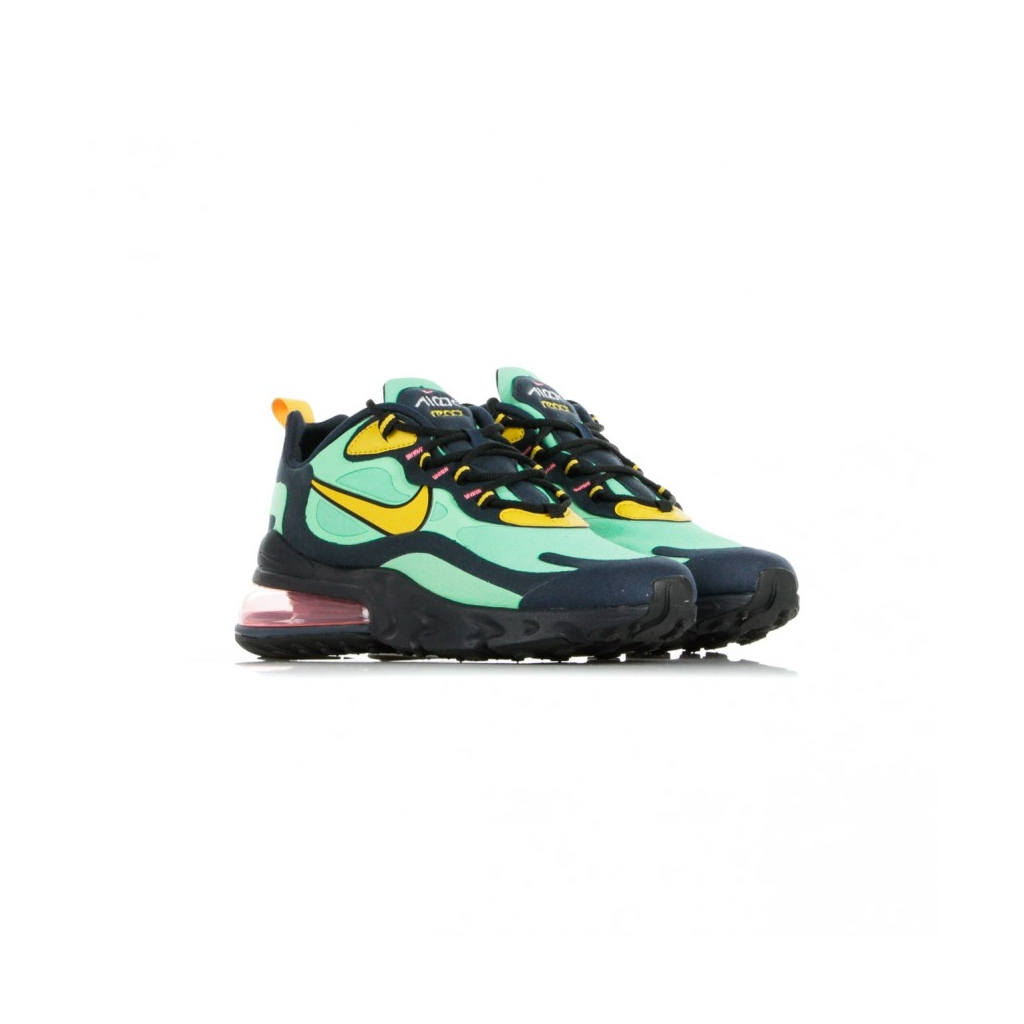 SCARPA BASSA AIR MAX 270 REACT POP ART ELECTRO GREEN/YELLOW OCHRE/OBSIDIAN