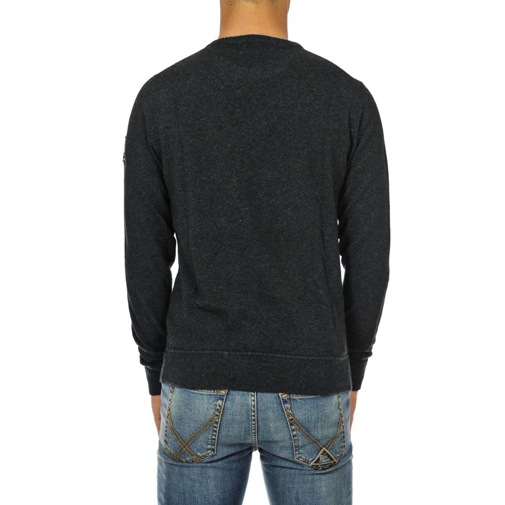 Anthracite wool crew neck sweater