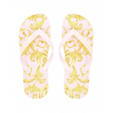 Flip Flop con stampa baroque rosa