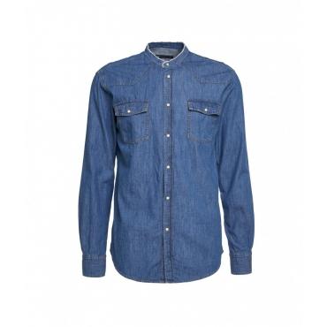 Camicia in denim blu