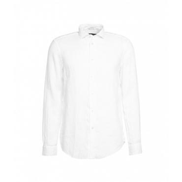 Camicia in lino bianco