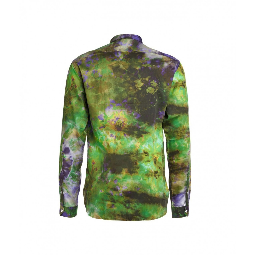 Camicia con stampa 3D verde