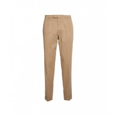 Pantaloni con orlo arrotolato beige