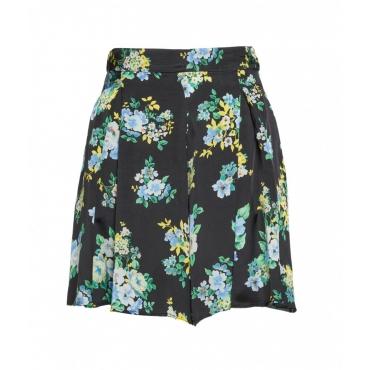 Shorts con stampa floreale nero