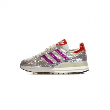 SCARPA BASSA ZX 500 W CLEAR GREY/SHOCK PURPLE/COLLEGIATE RED